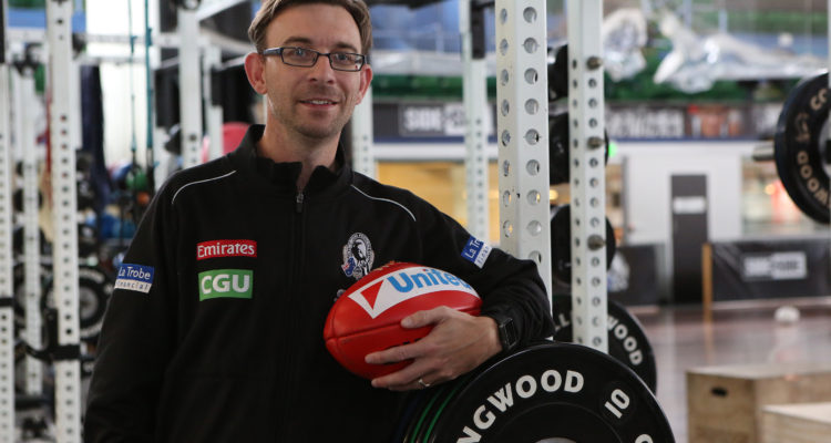 AFL recruiting manager Dominic Milesi is always on the ball
