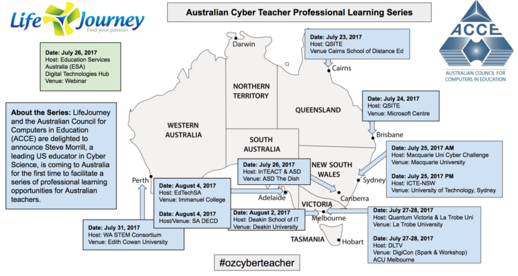 Steve Morrill – Leading US Cyber Science Educator – Coming to a Professional Learning Near You