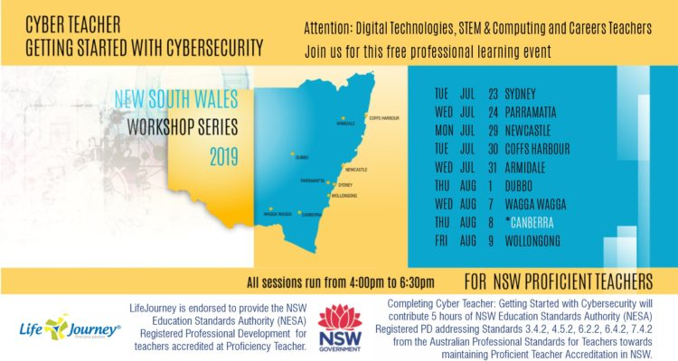 New NESA Registered PD Course! Cyber Teacher – Starting Up in Cyber Security